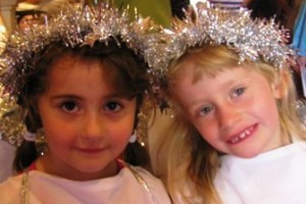 Holy Trinity Hampton children at Christmas